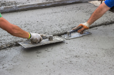 stock photo 69446019 leveling concrete with trowels